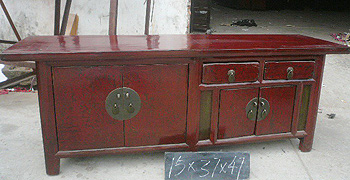 Low Red Sideboard A009