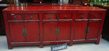 Long Red Sideboard A012