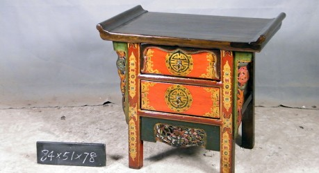 Chinese Ornate Winged Cabinet B38