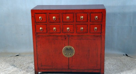 Red Apothecary Chest