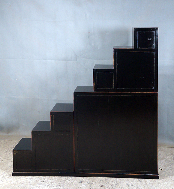 C 52 Elm Wood Ming Style Step Tansu Chest Blk Best Of